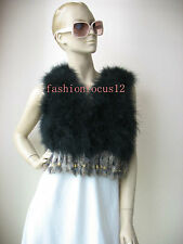 Free shipping/Genuine ostrich feather fur vest/waistcoat  6color