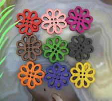 30/60/100pcs Mixed Wood Flower Beads Charms Jewelry Findings Accessories 20MM