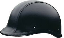 Polo Style Half Motorcycle Helmet DOT HCI 105 S M L XL XXL Leather