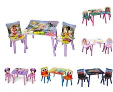 KIDS CHILDREN'S 3 PIECE TABLE & CHAIR SET - DISNEY CHARACTERS / TV CHARACTERS