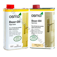 Osmo Door Oil 1 litre 3060 Clear Satin Single or Twin - Internal Doors & Joinery