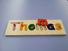 Personalised Children's Name Jigsaw Puzzle Educational Wooden Baby Toys