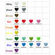 50 Heart Shaped KAM Plastic Resin Snaps Craft Baby Cloth Diaper Choose Colors