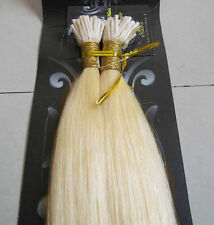 "100S 18""-32"" Stick Tip Bonded Micro Remy Indian Human Hair EXTENSION #60 blonde"