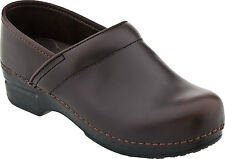 Women's Dansko Professional Pro XP Clogs Brown Espresso Pull-Up Leather