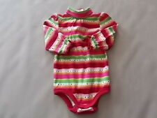NWT Girl's Gymboree striped long sleeve one piece shirt ~ 6-12 months