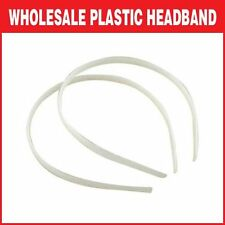 WHOLESALE White Plastic Headband Hair Band Accessories Craft No Teeth  7/10/15mm