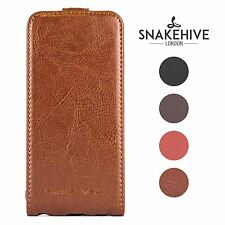 SNAKEHIVE® Genuine Real Leather Flip Case Cover for Samsung Galaxy S3 Mini