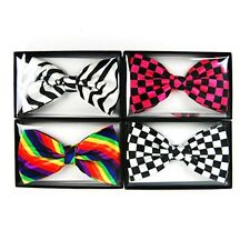 Popular Trends Women Printed Pattern Neck Bow Tie Colors