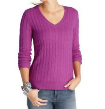 Ann Taylor Loft Cozy Cable V-Neck Sweater NWT