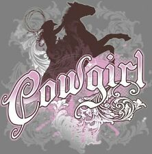 Dixie Fitted Shirt Cowgirl Horse Country Boots Rodeo Ride Farm Cowboy Pink Lasso