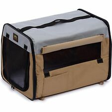 Soft Folding Travel Collapsible Pet Dog Crate Carrier Bag with leash holder