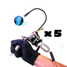 UV Tattoo Machine Light ULTRAVIOLET BLACKLIGHT Gun LED 5, 3 or 1