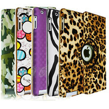 The New iPad 4 4G Gen 3 3rd/iPad 2 Magnetic Rotating PU Leather Case Smart Cover