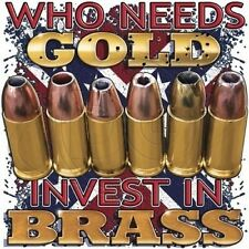 Hoodie Who Needs Gold Invest In Brass Gun Permit Right 2nd Amendment Bullet Hunt