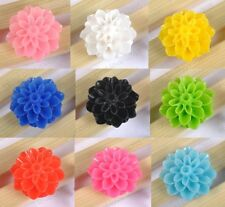 20pcs Resin Flower Flat Back Cabochon For Decoration Craft Many Colors To Choose