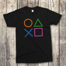 PLAYSTATION CONTROLLER PS2 PS3 MENS COOL GAMING T-SHIRT