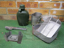 DUTCH ARMY SURPLUS,STAINLESS MESS TINS,WATER BOTTLE,CUP,ESBIT COOKER,HEXAMINE