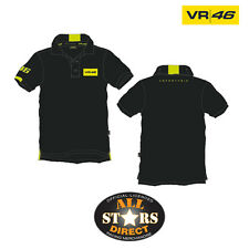 New 2013 Official Valentino VR46 Polo Shirt Black Moto GP
