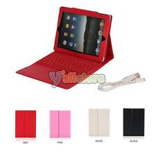 1/5 Color 76 Key Leather Stand Case with Bluetooth Keyboard for ipad 2nd 3rd 4th