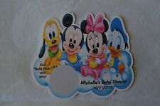 UNIQUE PERSONALIZED DISNEY BABIES BABY SHOWER PARTY FAVOR SCRATCH OFF LOTTO GAME