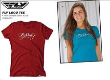 Girls Fly Racing Logo T-Shirt RED 4 wheeler Offroad Dirt Girl Moto-X Arena Cross