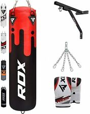 Auth RDX Gel Body Building Gloves Weight Lifting Gym Strap Training Leather Grip