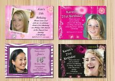 Adult Womens Personalised Birthday Party Multi Invitations - the invite factory