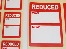 Bright Red REDUCED / CLEARANCE Price Point Stickers, Swing Tag Sticky Labels