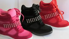 Girls Wedge Sneaker High Top  (Colima12) Youth Pageant Dress Shoes Laces