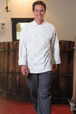 Uncommon Threads Classic 10 Button Chef Coat, White or Black, XS to 6XL, 402