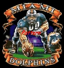 Miami Dolphins Mascot (Helmet). Cross Stitch Pattern. Paper version or PDF.