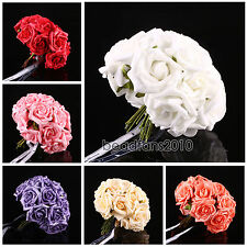 10-100 Head Latex Real Touch Artificial Rose Flowers For Diy Bouquets Bridal