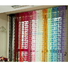 Tassel Drape Heart Panel String Curtain for Window Vestibule Door Wall