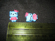 2 Pcs Hello Kitty Crown Resin Flatback Scrapbooking Hair Bow Crafts