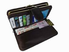 Large Leather Purse Soft Patchwork Leather Purses Coin Credit Card Holder P241M