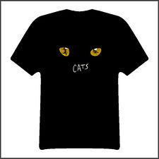 cats broadway musical show black t shirt Sizes XSmall Youth - 6XL