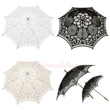 Handmade Battenburg Lace Wedding Flower Girls Parasol Umbrella Kids Photo Decor
