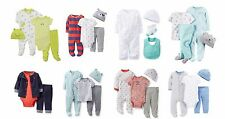 NEW Carter's Boys Preemie 4 Piece Set Sleeper Bodysuit Cap Pants Layette
