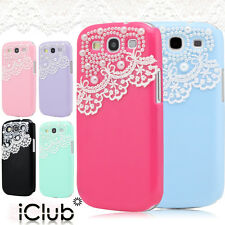 PEARL & LACE HARD CASE COVER FOR SAMSUNG GALAXY S2 S3 S4 NOTE 2 VARIOUS MODEL