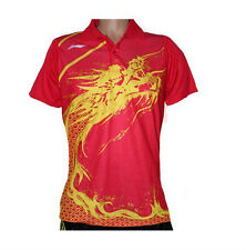 Free shipping 2012 li ning women's Tops London Olympic Games Table tennis shirt