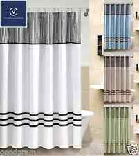 Ashford™ Pieced Flocked Taffeta Fabric Shower Curtain Available In 5 Colors