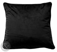 Black Velvet Cushions - Luxury Scatter Small & Large Cushion Covers
