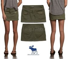 NWT Abercrombie & Fitch by Hollister Womens Vintage Kali Skirt Olive $54 Retail