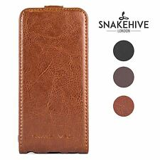 Samsung Galaxy S4 Genuine Snakehive Real Leather Flip Case Cover (i9500)