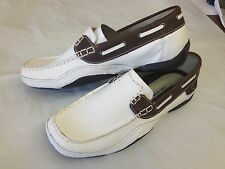 NEW MEN SKECHERS SHOES MARGIN WHITE / BROWN / 60808 / WBR
