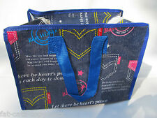 DENIM STYLE DESIGN RECYCLED ECO FRIENDLY LADIES LUNCH SHOPPING TRAVEL HAND BAG