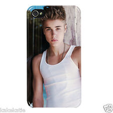 Justin Bieber iphone white hard back case / skins cover for i phone 4 4s