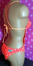 NWT HOLLISTER Neon Coral Dot Sunfriders Cut-out Show-off One-piece Monokini
