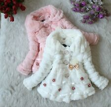 Junoesque Baby Toddlers Girls Faux Fur Fleece Lined Coat Kids Winter Warm Jacket